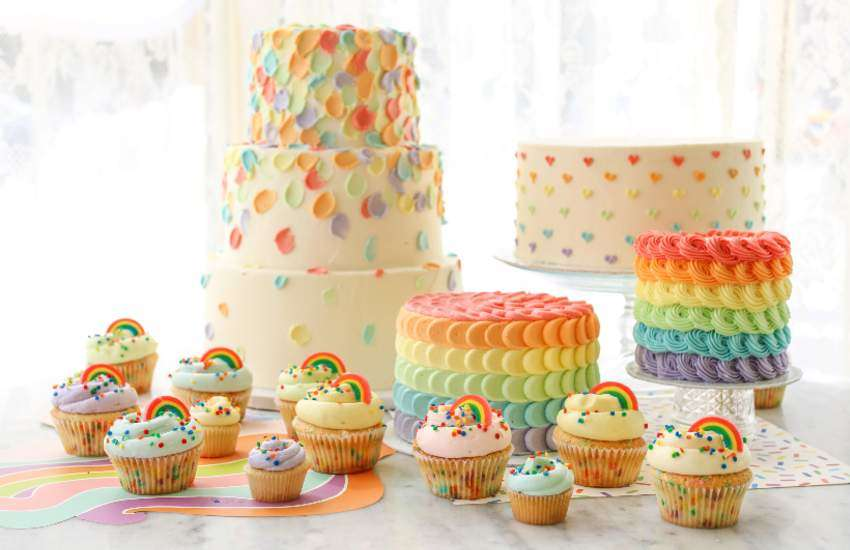Fabulous Magnolia Bakery To Sell Delicious Rainbow Desserts For Pride Month Personalised Birthday Cards Veneteletsinfo