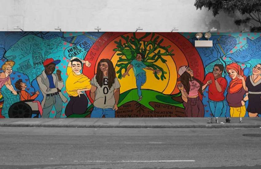 One of the murals painted in New York to celebrate World Pride.