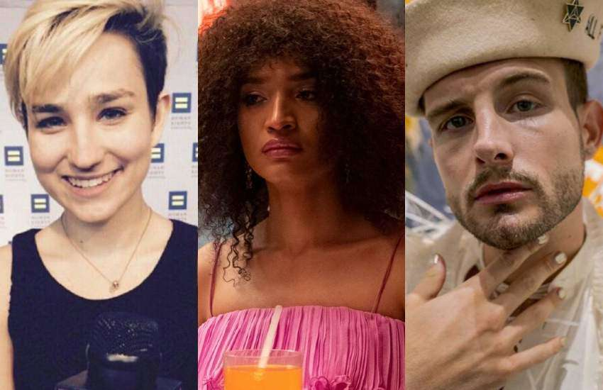 Non-binary celebrities Bex Taylor-Klaus, Indya Moore and Nico Tortorella.