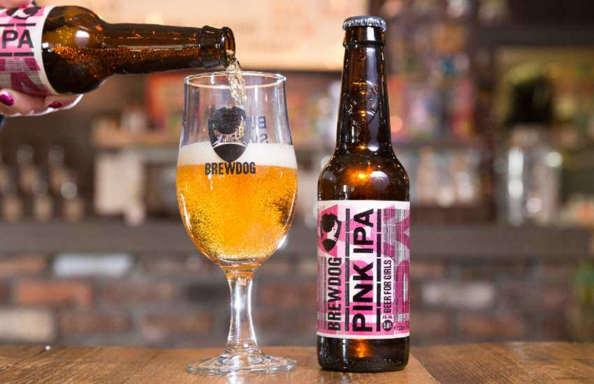 The limited edition Brewdog Pink IPA.