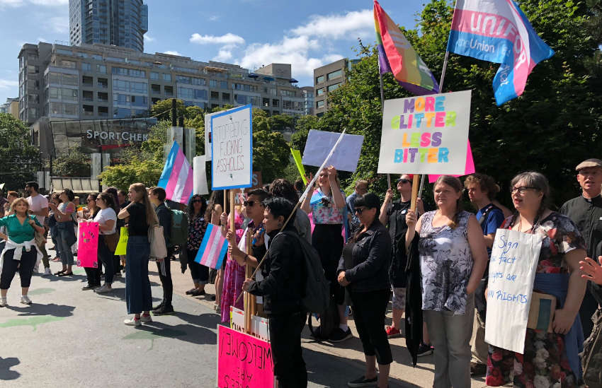anti-trans protests Vancouver