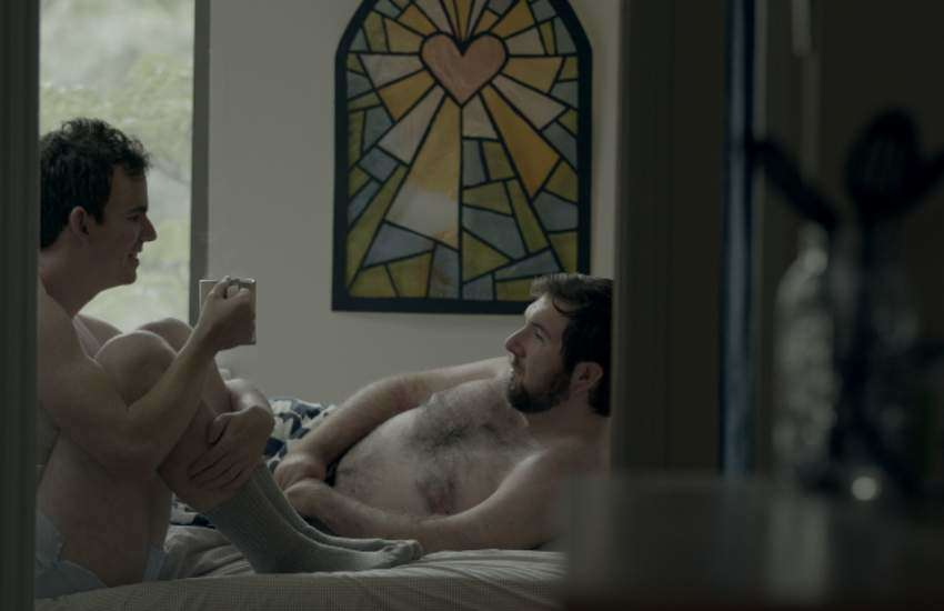 Tim Manley and Andrew Farmer in PROUD, the first episode of season three of The Feels.