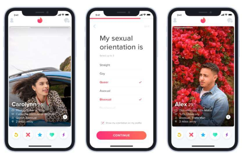 Tinder launches sexual orientation feature