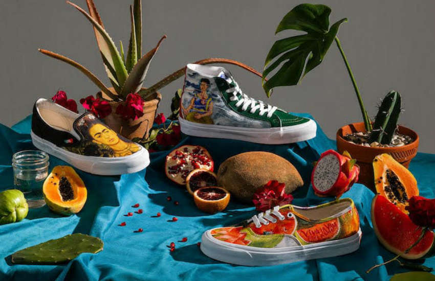 Vans Frida Kahlo collection of shoes
