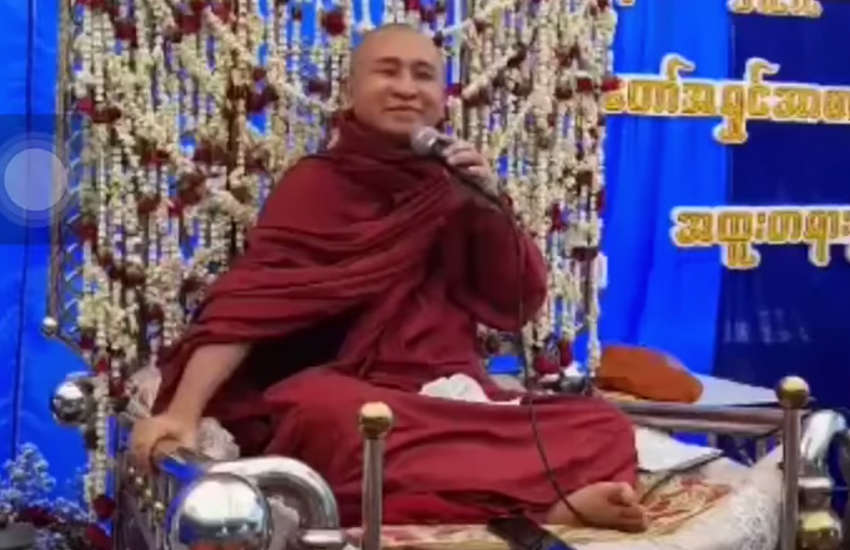 A controversial Buddhist monk in Myanmar. (Photo: Facebook)