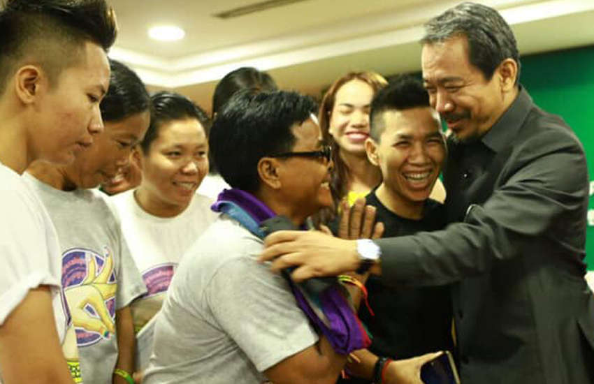 A delegation of LGBT Cambodians meet government officials in the capital (Photo: Facebook)