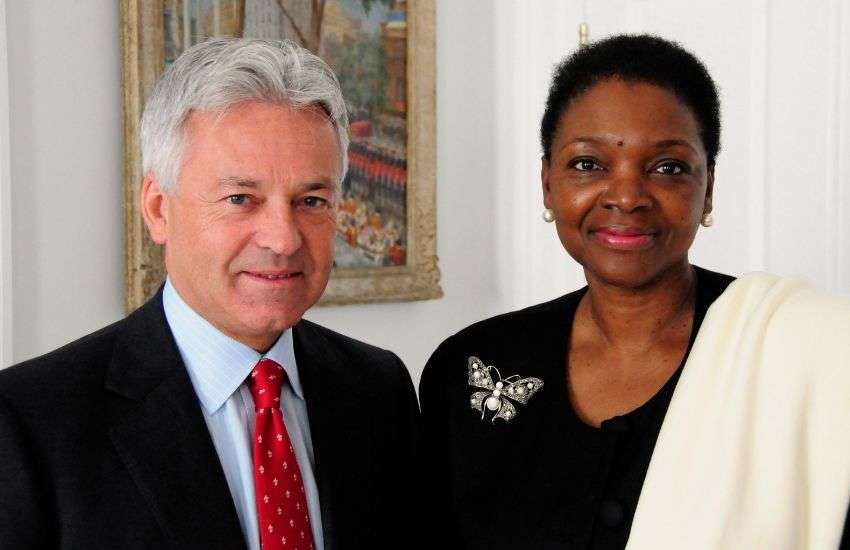 Alan Duncan meets the Head of the United Nations' humanitarian agency Valerie Amos | Photo: Simon Davis/Department for International Development'