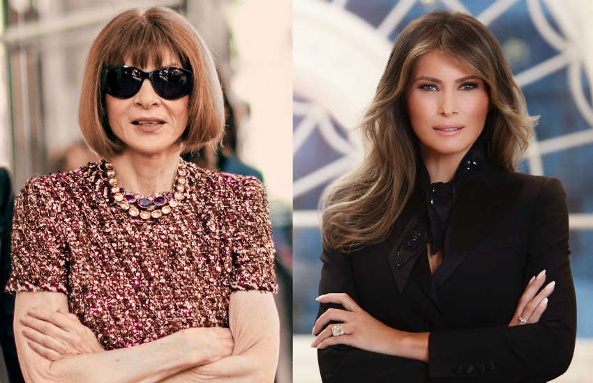 Anna Wintour (left) and Melania Trump