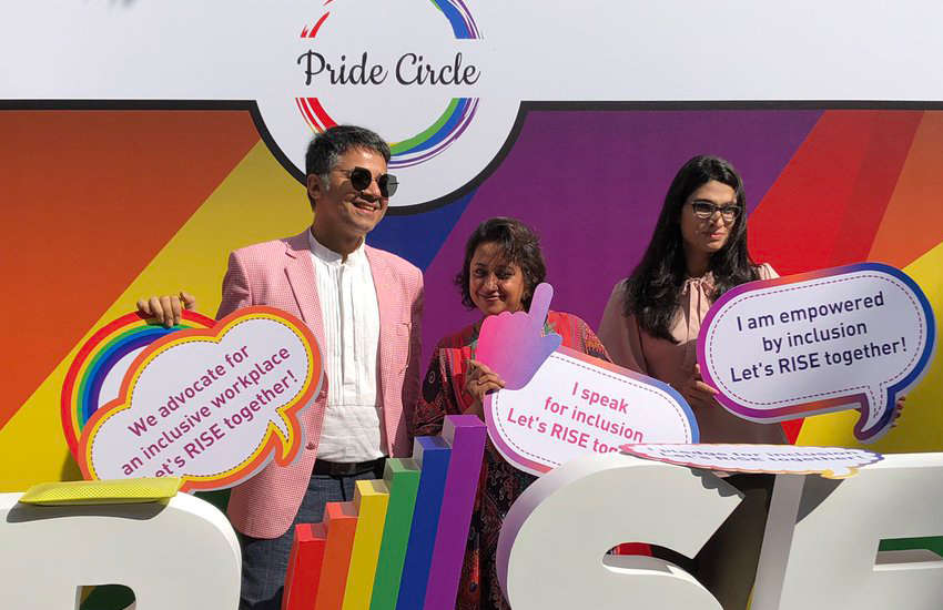 Attendees of India's first LGBTI job fair (Photo: Twitter)