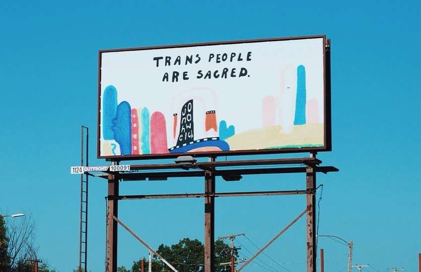 Trans billboard in Detroit