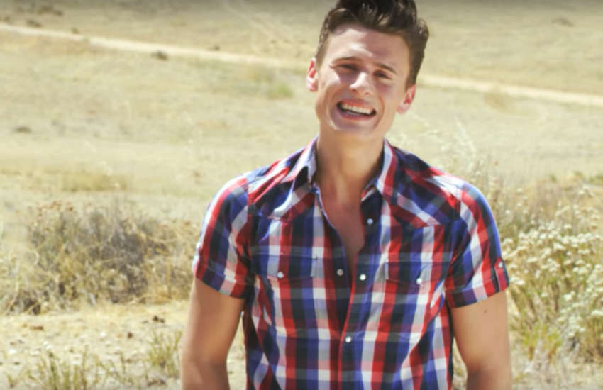 Blake McIver in the video for his 2015 gay anthem 'This Is Who We Are'
