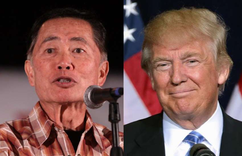 George Takei and Donald Trump