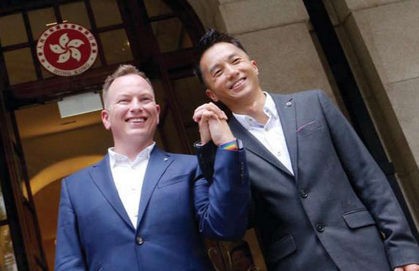 Hong Kong's Inland Revenue Department was ordered to recognize same-sex couples after Scott Adams and Angus Leung won a landmark Hong Kong court case (Photo: Facebook)