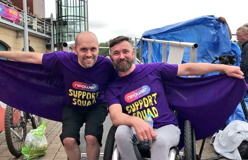 Husbands Kris (Right) and Deane (Left) Saunders-Stowe are at the heart of a new documentary about being LGBT and living with a disability | Photo: Gay Star News / Jamie Wareham