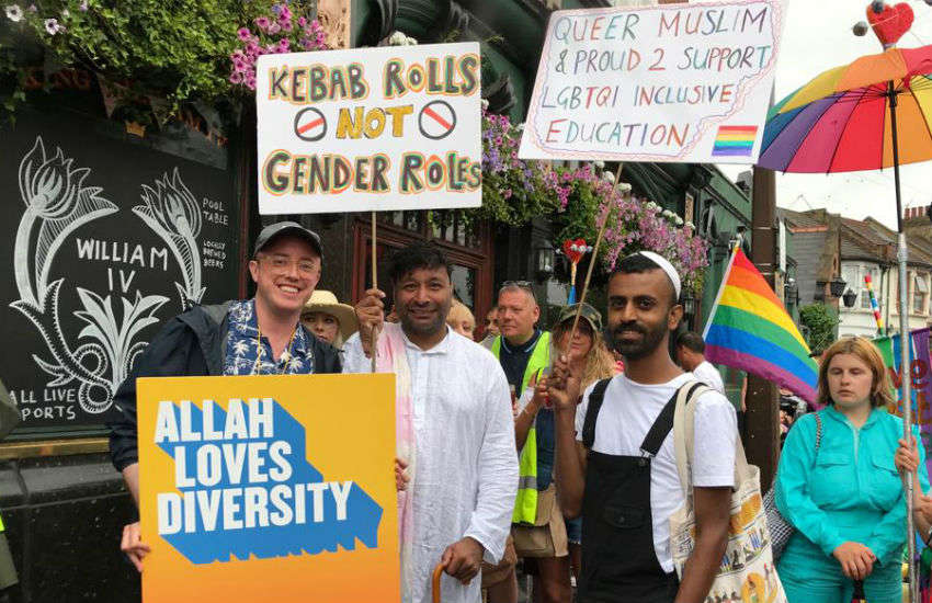 LGBTI Muslim group Imaan marching at Waltham Forest Pride