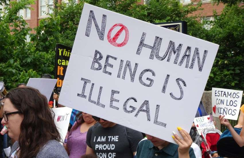 Immigrant rights protester