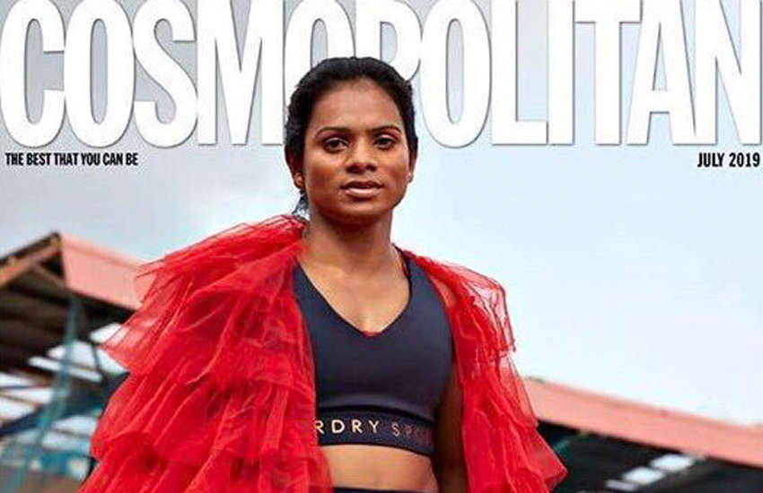 India's first openly-LGBTI athlete Dutee Chand on the cover of Cosmopolitan. (Photo: Instagram)