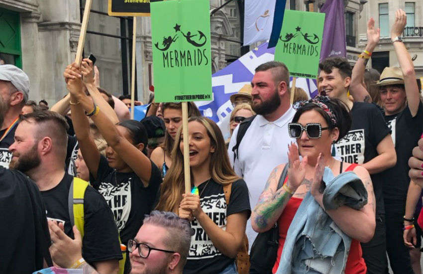 Jade and Leigh-Anne from Little Mix supporting Mermaids and UK Black Pride | Photo: Supplied by Susie Green
