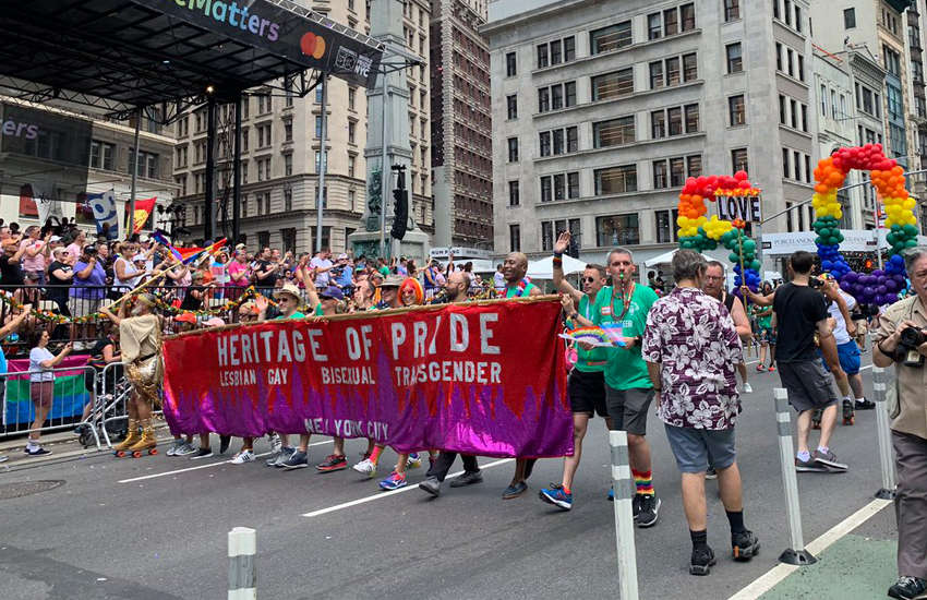 New York City's pride parade may have been the largest public gathering the city has ever seen (Photo: Twitter)