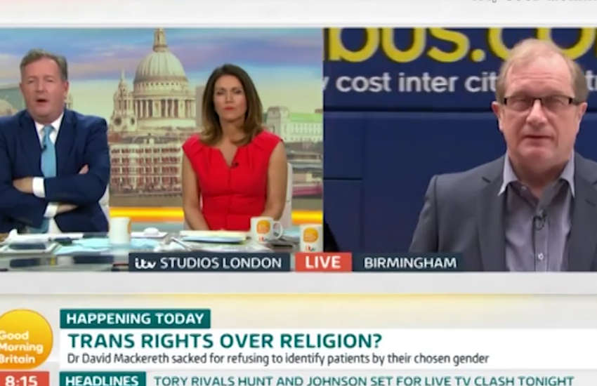 Piers Morgan argument doctor trans people