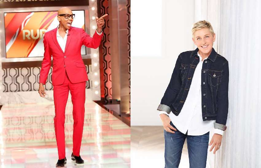 Hollywood LGBTI figures RuPaul and Ellen DeGeneres