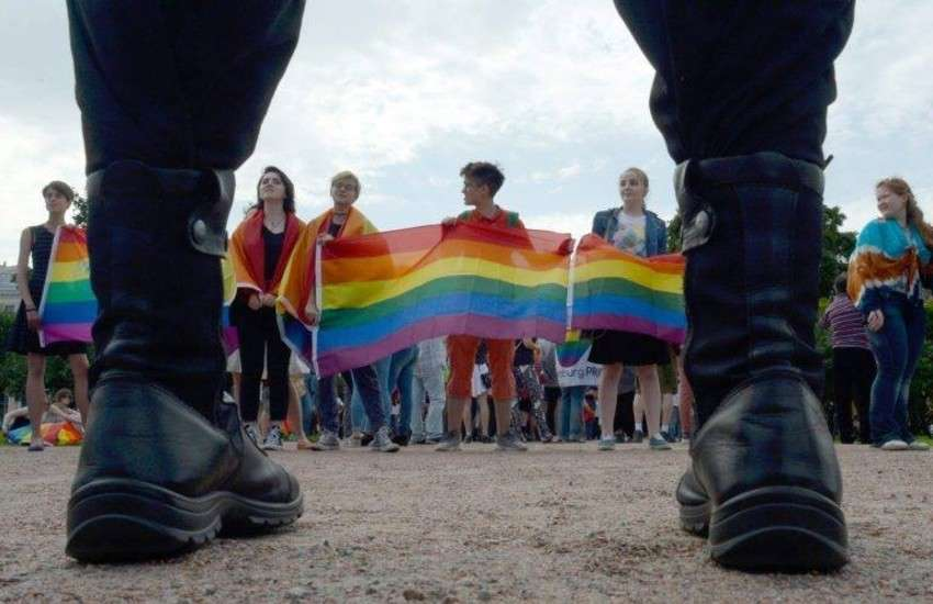 A group of Russian LGBTI activists
