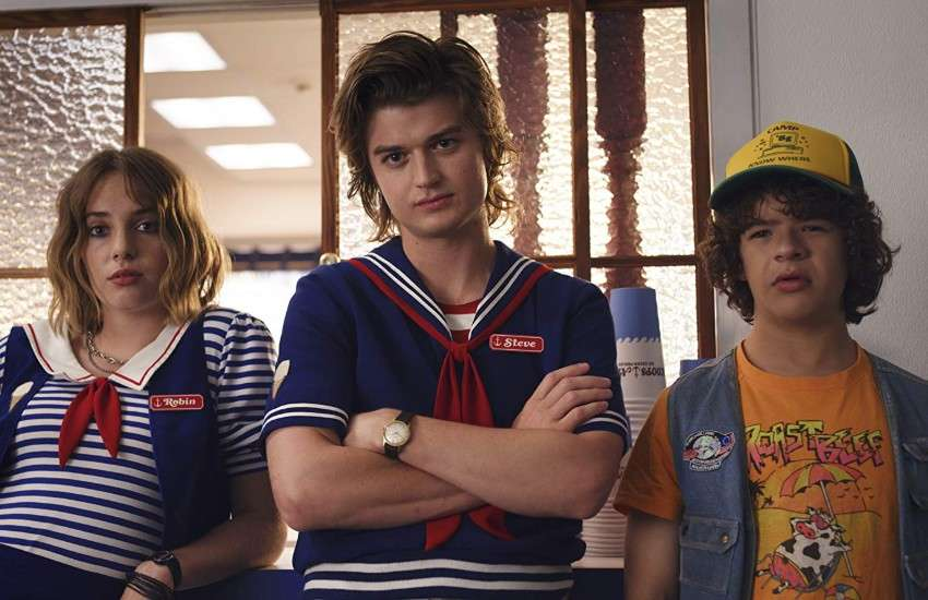 Robin, Steve, and Dustin from Stranger Things