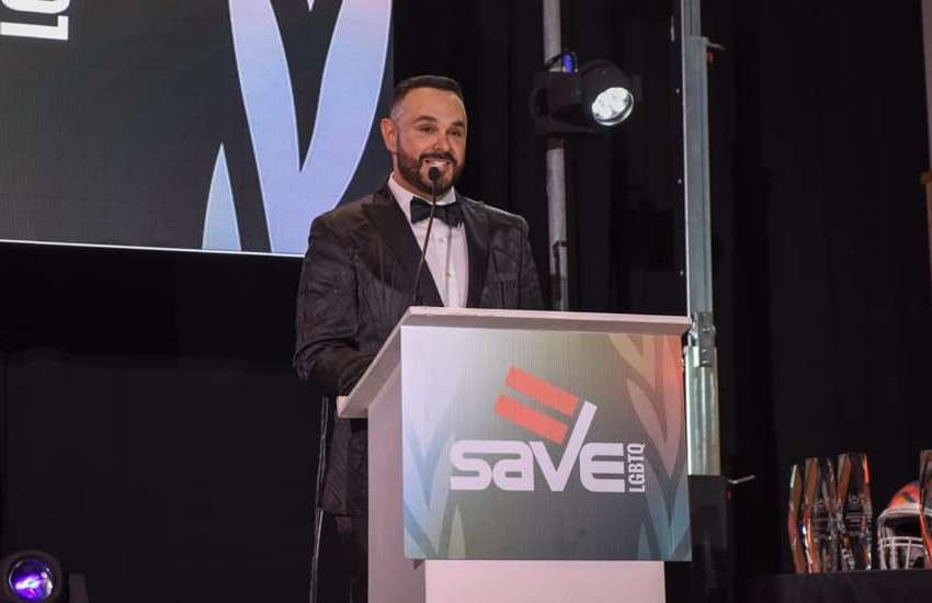 Tony Lima at an event for SAVE in Florida
