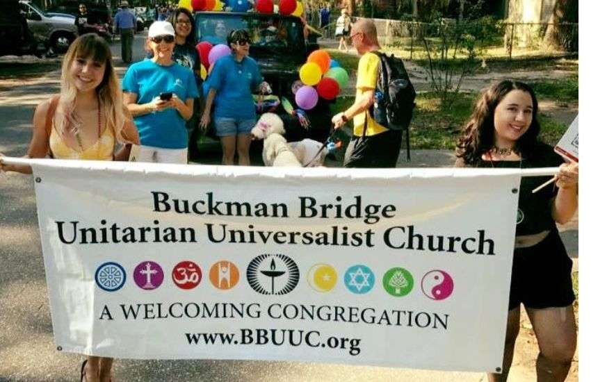 Prom hosts-to-be Buckman Bridge Unitarian Universalist Church at River City Pride 2016 | Picture: Facebook