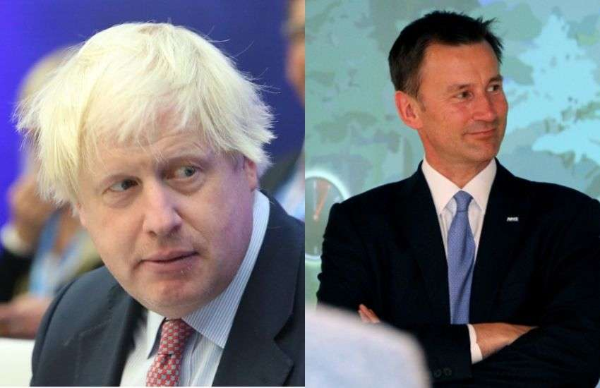 Boris Johnson (left) and Jeremy Hunt have insisted that the call to roll back a ban on abortion and marriage equality is down to the Northern Ireland government | Picture: Wikimedia Commons