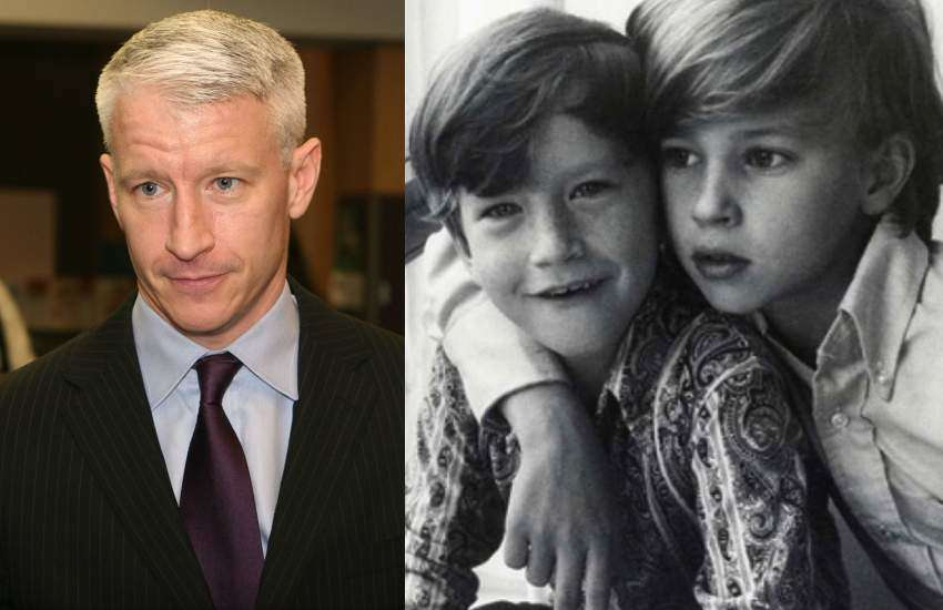 Anderson Cooper with his brother Carter as kids
