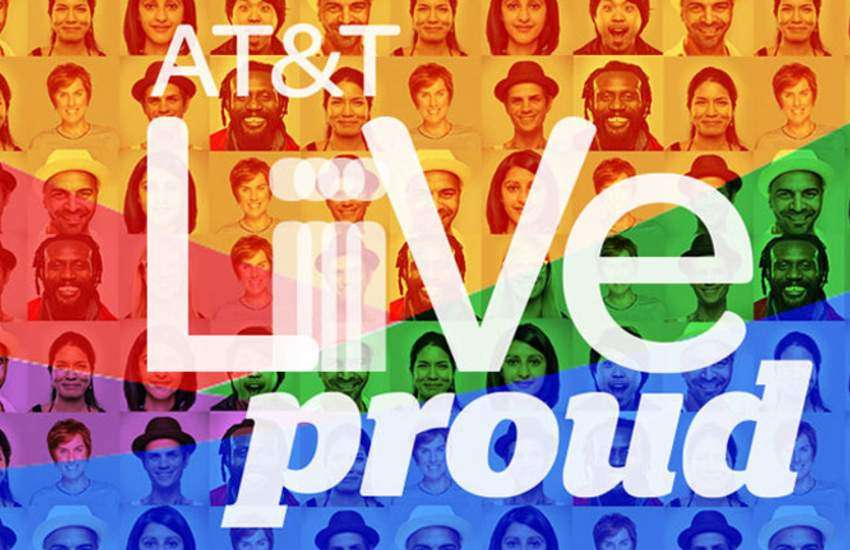 AT&T campaign for Pride.