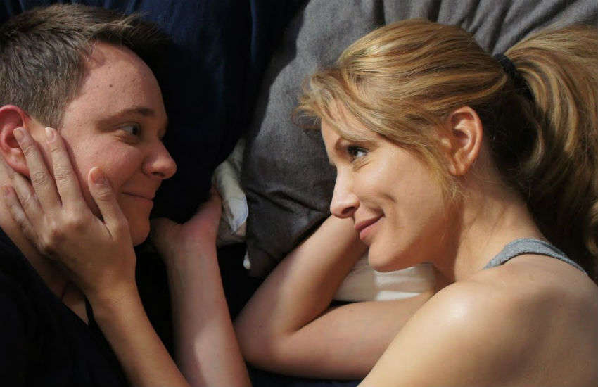 A scene from the movie, Hetersexual Jill - one of those available via LesFlicks