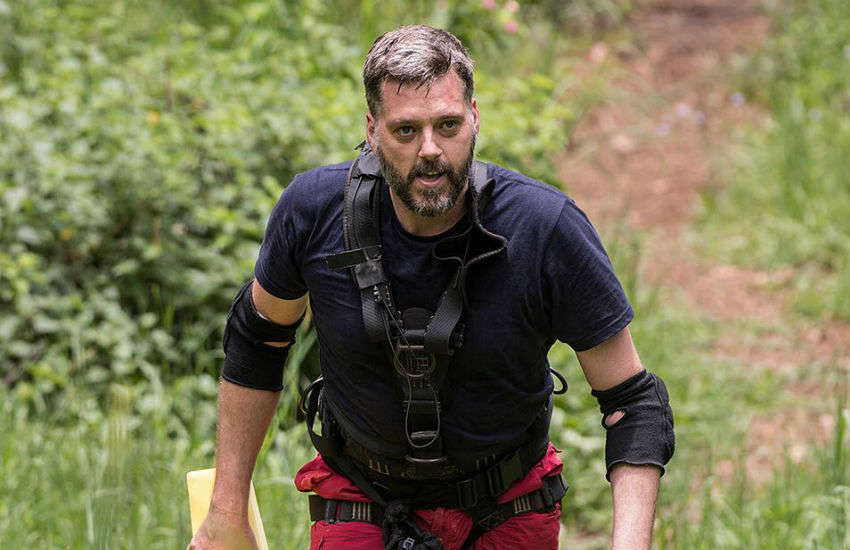 Iain Lee in the jungle