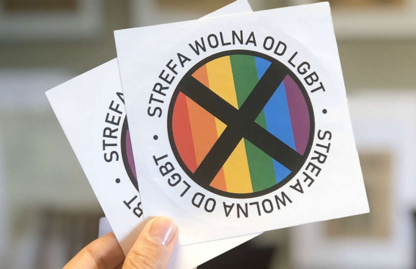 lgbt-free zone stickers Gazeta Polska