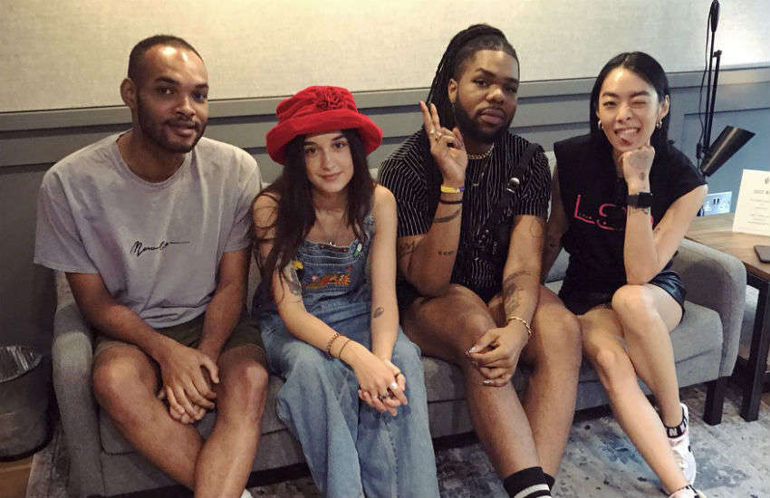 L-R: Ryan Ashley, Caitlyn Scarlett, MNEK and Rina Sawayama