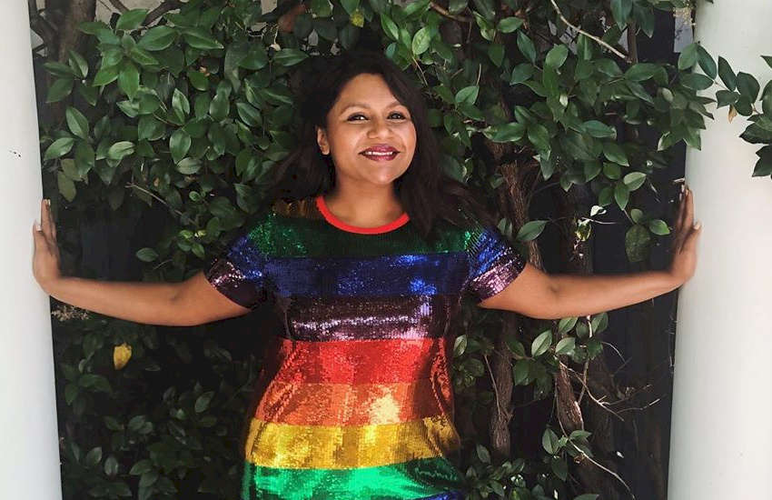 Mindy Kaling stunned in a Pride flag-themed dress, but some homophobes weren't happy | Picture: Instagram (@mindykaling)