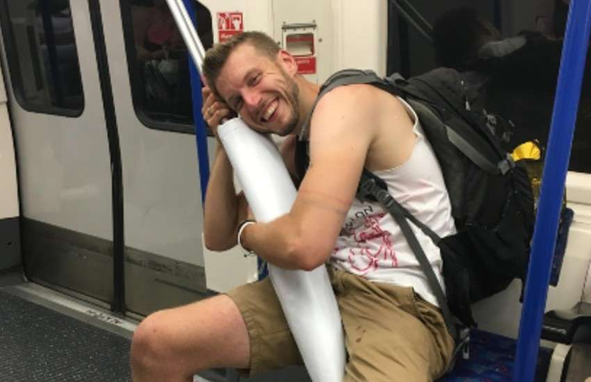 Sacha Coward on his way to Pride in 2017. | Photo: supplied