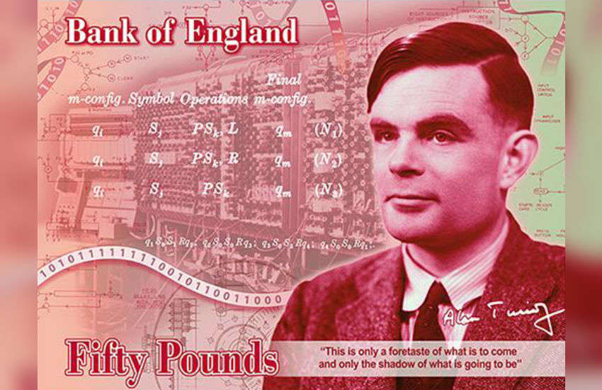 Alan Turing on the £50 note