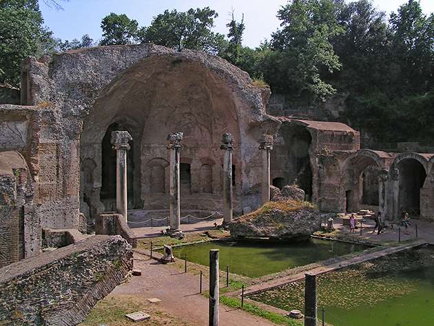 The stunning Villa Adriana or Hadrian's Villa where he entertained his lover and ran the empire.