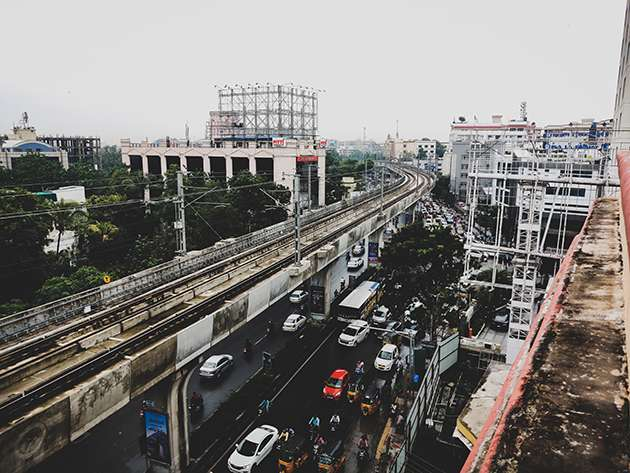 The streets of Hyderabad.