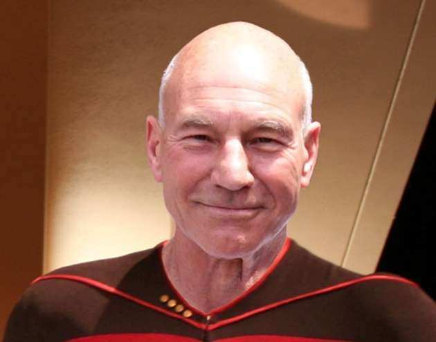 Patrick Stewart as Star Trek's Jean-Luc Picard.