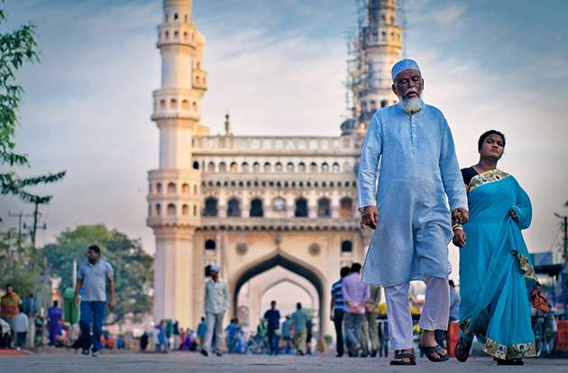 The city of Hyderabad.
