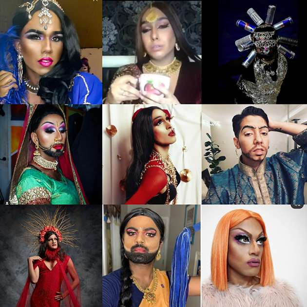 South Asian drag artists performing for the #BrownDragExists campaign.