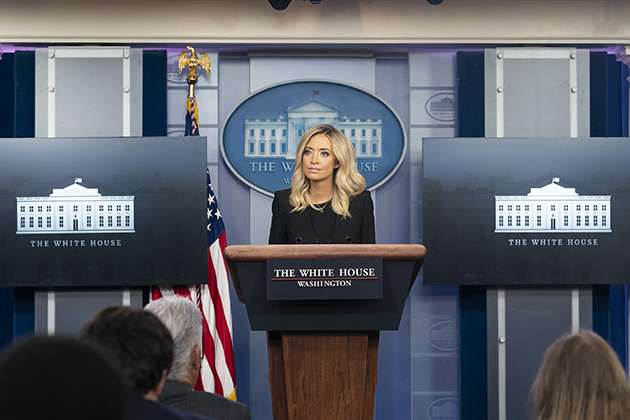 Kayleigh McEnany at a White House press briefing.