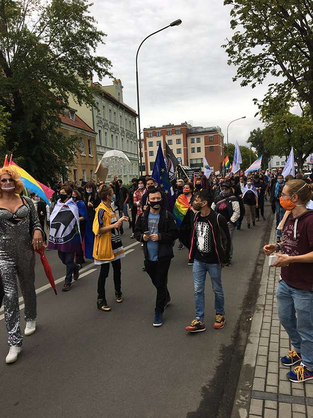 Marchers in the Słubice and Frankfurt Pride.