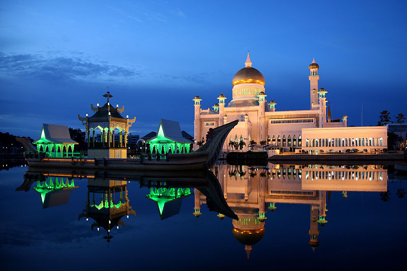 The Sultan Omar Ali Saifuddin Mosque in Brunei activist